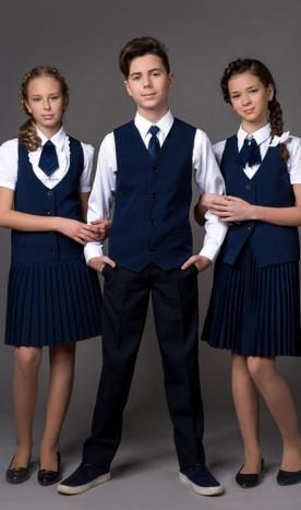 Uniformă școlară fete vesta și fustiță plisată