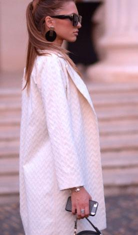 Palton de damă alb