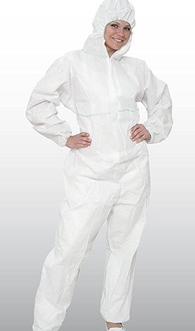 Combinezon alb din BUMBAC - TERCOT 100%, 240 gr